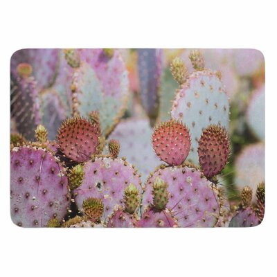 Ann Barnes Cotton Candy Cacti Memory Foam Bath Rug