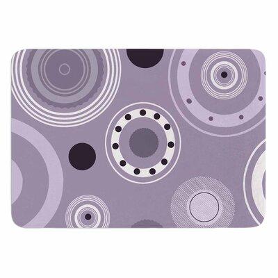 Alison Coxon Purple Circles Memory Foam Bath Rug