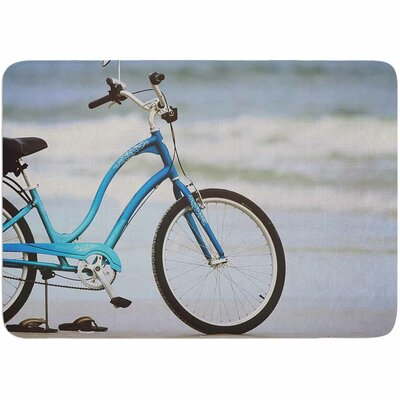 Angie Turner Beach Bike Memory Foam Bath Rug