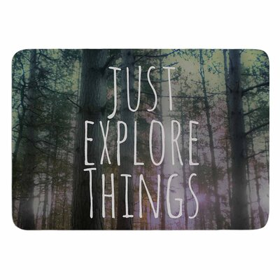 Alison Coxon Just Explore Things Memory Foam Bath Rug