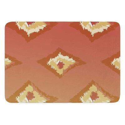 Alison Coxon Ombre Ikat Memory Foam Bath Rug Color: Orange/Yellow