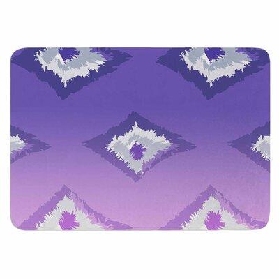 Alison Coxon Ombre Ikat Memory Foam Bath Rug Color: Lavender/White