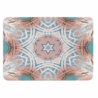 Alison Coxon Tribe Coral and Teal Memory Foam Bath Rug