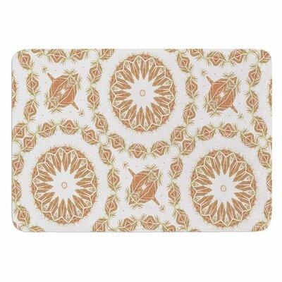 Alison Coxon Citrine Mandala Tile Memory Foam Bath Rug