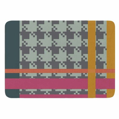 Pellerina Design Houndstooth Color Block Memory Foam Bath Rug