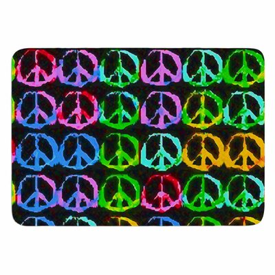 Anne LaBrie Give Peace A Chance Memory Foam Bath Rug