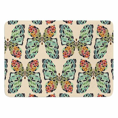 Art Love Passion Butterfly Pattern Memory Foam Bath Rug