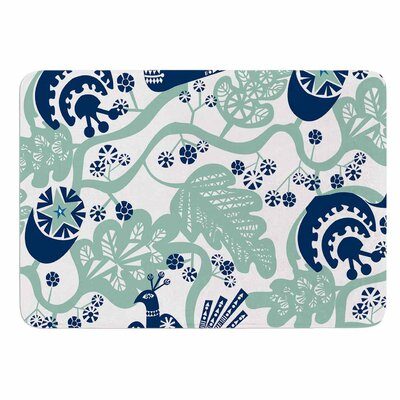 Agnes Schugardt Folk Birds Memory Foam Bath Rug