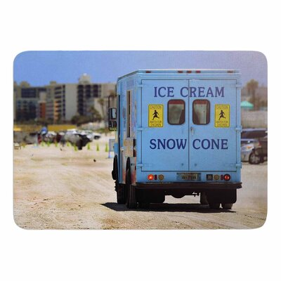 Angie Turner Ice Cream Truck Memory Foam Bath Rug