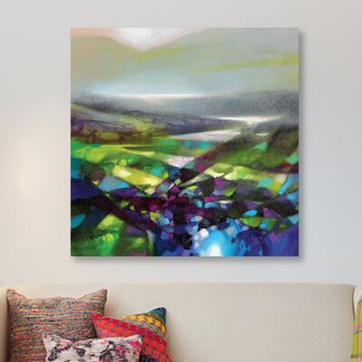 'Displacement Greens' Print on Canvas URBH9018 38410388