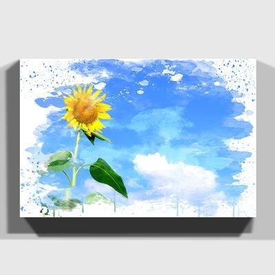 'Yellow Sunflower Flower' Graphic Art Print