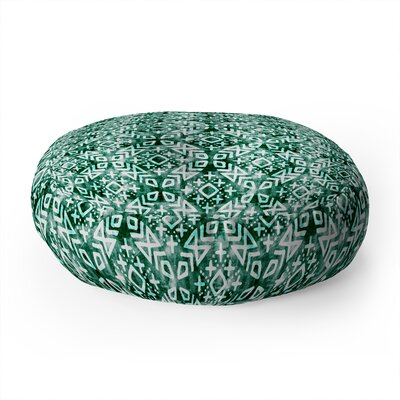 Little Arrow Design Moroccan in Emerald Round Floor Pillow