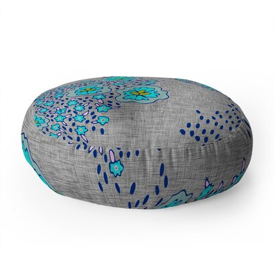 Holli Zollinger Boho Floral Round Floor Pillow Color: Brown