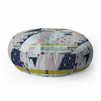 Bel Lefosse Design Stripes and Diamonds Round Floor Pillow