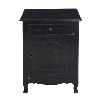 Cassandra Side Table Color: Distressed Black