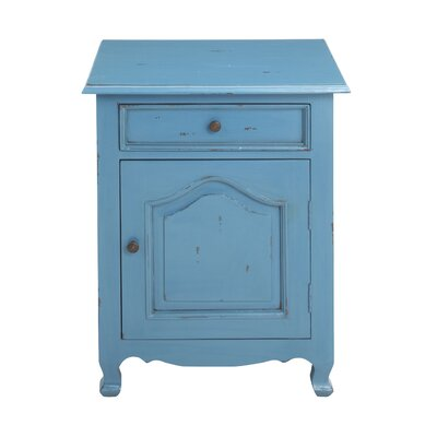 Cassandra Side Table Color: Blue