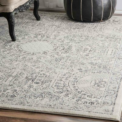 London Gray Area Rug Rug Size: Round 8