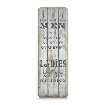 Men and Ladies Wall Mounted Coat Rack