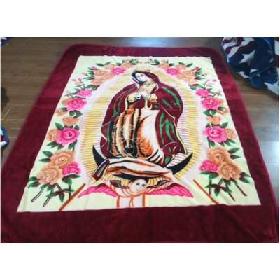 1 Ply Mink Virgin Mary Throw Blanket