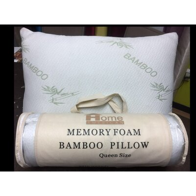Rayon from Bamboo Memory Foam Pillow Size: King