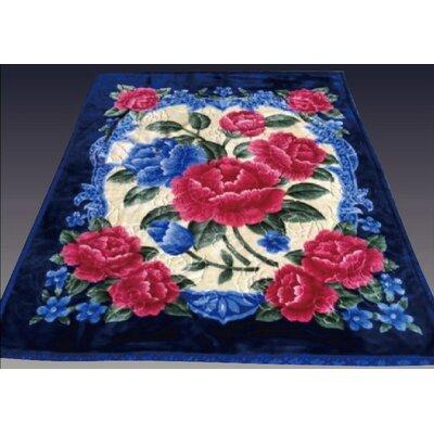 Two Plys Super Soft Heavy Mink Blanket Color: Royal Blue