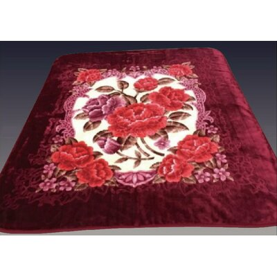 Two Plys Super Soft Heavy Mink Blanket Color: Maroon