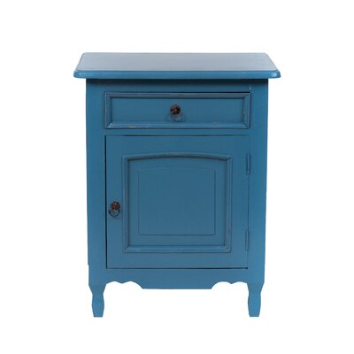 Abbad Nightstand Color: Antique Sky Blue