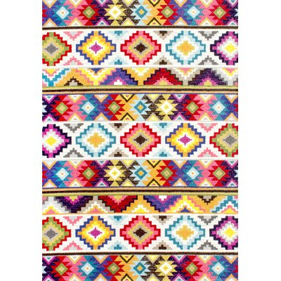Vincent Retro Indoor Area Rug Rug Size: Rectangle 41 x 6