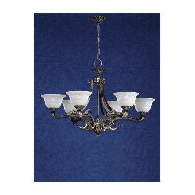 Saraso 6-Light Shaded Chandelier