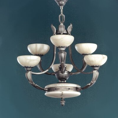 Osma 6-Light Shaded Chandelier