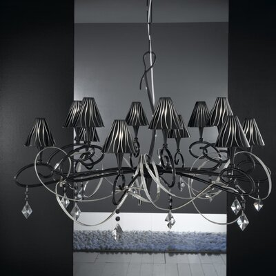 Chic 12 Light Crystal Chandelier Z6601BLK