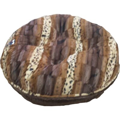 Bagel Godiva Wild Kingdom Dog Bed Size: Large (42 W x 42 D)