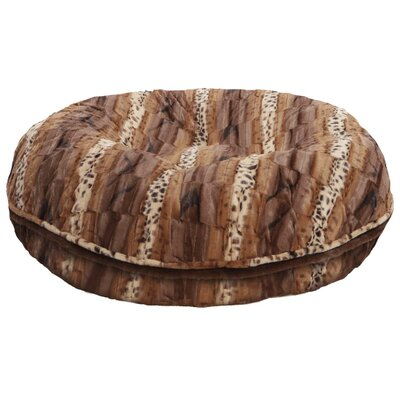 Bagel wild Kingdom Bolster Dog Bed Size: 24 W x 24 D x 10 H