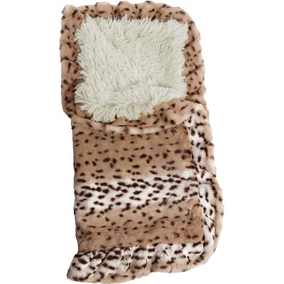 Blanket Aspen Snow Leopard Hooded Dog Bed Size: 28 W x 28 D