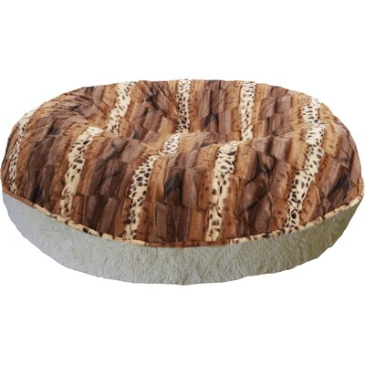 Bagel Wild Kingdom Classic Dog Bed Size: Large (42 W x 42 D x 10 H)