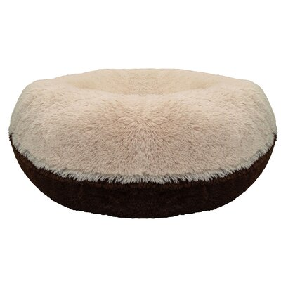 Bagel Grizzly Bear Dog Bed Size: 10 H x 24 W x 24 D