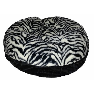 Bagel Zebra Bolster Size: 42 W x 42 D x 10 H