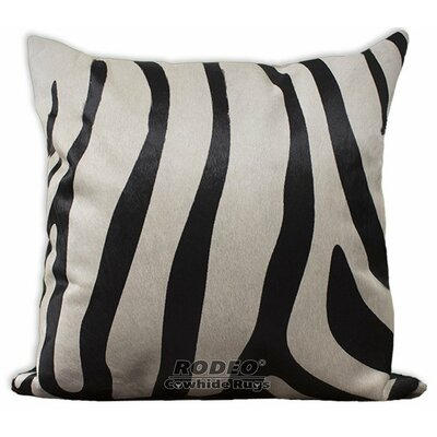 Zebra Cowhide Pillow Cover Size: 22 H x 22 W