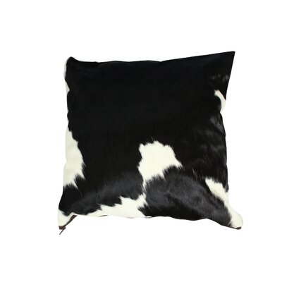 Authentic Cowhide Throw Pillow Cover Size: 22