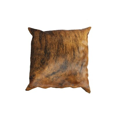 Brindle Authentic Cowhide Throw Pillow Cover Size: 16 H x 16 W