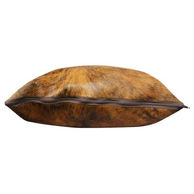 Brindle Authentic Cowhide Throw Pillow Cover Size: 22 H x 22 W