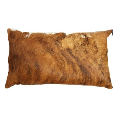 Brindle Authentic Cowhide Lumbar Pillow Cover