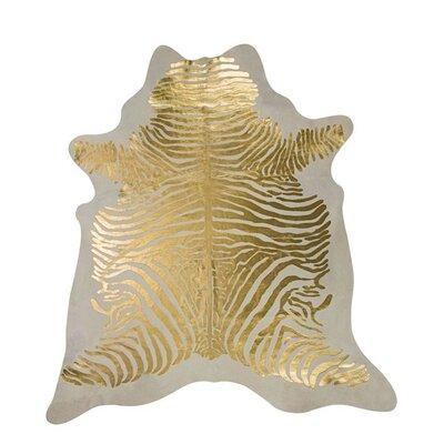 Hand-Woven Golden/Beige Area Rug