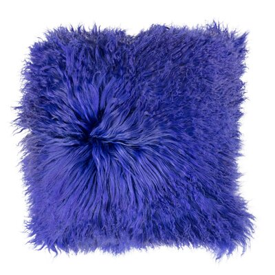 Samson Tibetan Wool Pillow Cover Color: Blue