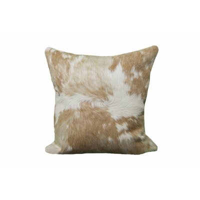 Ahearn Blonde Cowhide Leather/Suede Pillow Cover
