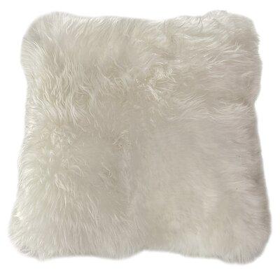 Bri Sheep Fur Pillow Cover Color: Ivory