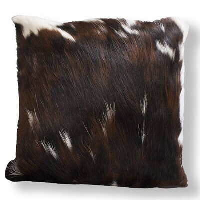 Authentic Cowhide Throw Pillow Cover Size: 16 H x 16 W