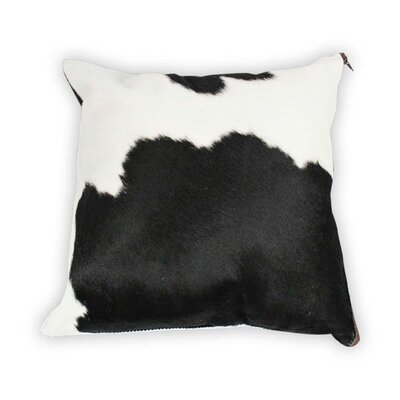 Authentic Cowhide Throw Pillow Cover Size: 22 H x 22 W