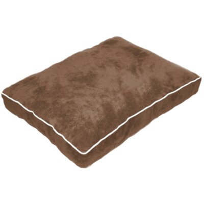 Cuddly Plush Dog Bed Size: 26 L x 20 W, Color: Brown