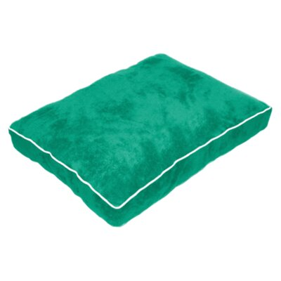 Cuddly Plush Dog Bed Size: 34 L x 26 W, Color: Green